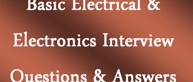 أسئلة مقابلة مهندسين الكهرباء