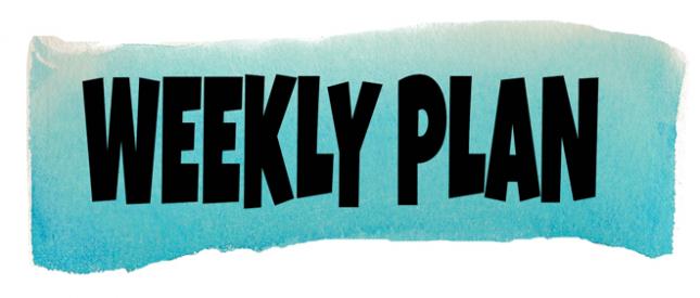 خطة للأسبوع